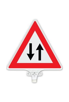 İki Yönlü Trafik Uyarı Levhası (Tek Yön) - UT 2804