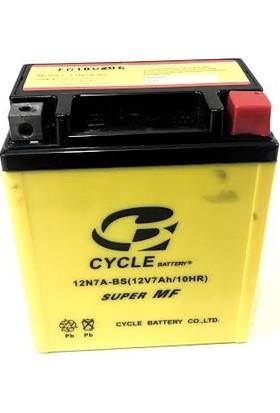 Cycle Kuru Akü Cycle 12N7A-Bs Honda Spacy Cbf150 Ybr125 Cbr250R Twıster 250 Crf250L Cb600F Kawasakı Nınja 250R Dylan Ses Pes Nes 150