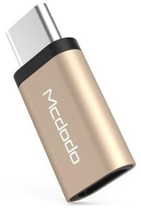 Mcdodo MC-OTG/215 Micro USB-Type-C Dönüştürücü Adaptör - Gold