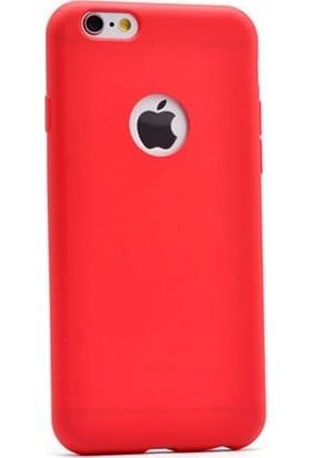 Ehr. iPhone 6 Plus/6S Plus Premier Ultra Lüx Soft Mat TPU Silikon Kılıf Kırmızı