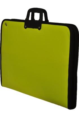 GözdeProje Suni Deri 38*53*5 cm Neon Sarı Proje Çantası