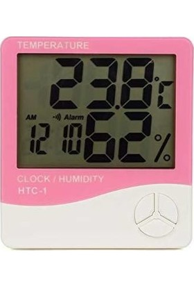 Newnet Htc-1 Saatli Nem Ölçer Ve Termometre Pembe