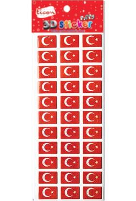 Ticon Sticker Puffy 236165 Bayrak 3D-24