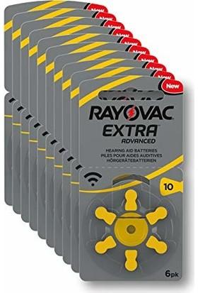 Rayovac 10 Numara İşitme Cihaz Pili 6X10 (60 Adet)