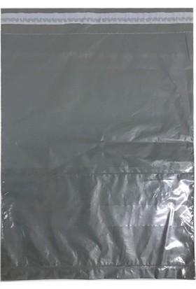 Ustuneyok Kargo Poşeti Battal Boy Siyah-Şeffaf 35*45+5 Cm. (100 Adet)