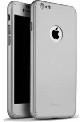 RedClick Apple iPhone 5S / 5 İnce 360 Tam Koruma Rubber Kılıf - Gümüş