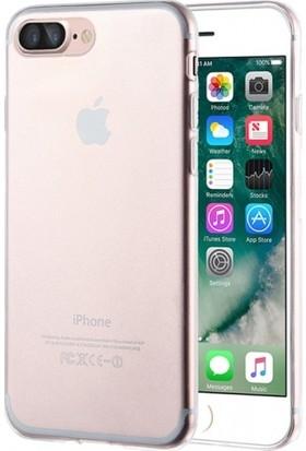 RedClick Apple iPhone 8 Plus Kılıf Ultra Slim Kaliteli Silikon Şeffaf 0.2mm - Şeffaf