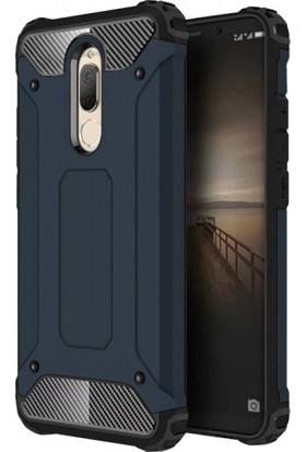 RedClick Huawei Mate 10 Lite Kılıf Zırhlı Tam Koruma Silikon Tank Zırhlı Arka Kapak - Lacivert