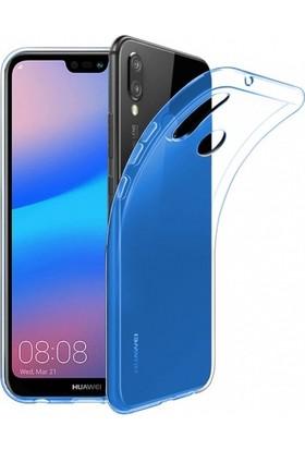 RedClick Huawei P20 Lite Kılıf Ultra Slim Kaliteli Silikon Şeffaf 0.2mm - Mavi
