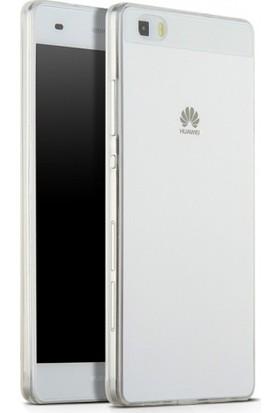 RedClick Huawei P8 Lite Kılıf Ultra Slim Kaliteli Silikon Şeffaf 0.2mm - Şeffaf