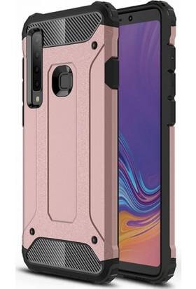 RedClick Samsung Galaxy A9 2018 Kılıf Zırhlı Tam Koruma Silikon Tank Zırhlı Arka Kapak - Rose Gold