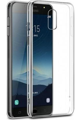 RedClick Samsung Galaxy C8 Kılıf Ultra Slim Kaliteli Silikon Şeffaf 0.2mm - Şeffaf