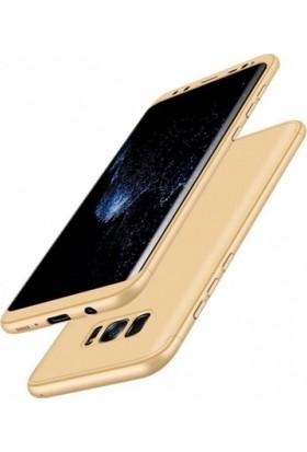 RedClick Samsung Galaxy S8 3 Parçalı İnce 360 Tam Koruma Rubber Ays Kılıf - Gold