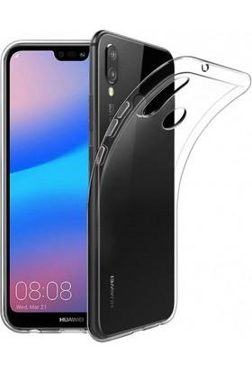 Aksesuarkolic Huawei P20 Lite Kılıf Ultra Slim Kaliteli Silikon Şeffaf 0.2mm