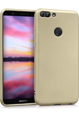 RedClick Huawei P Smart Kılıf Ultra Slim Yumuşak Premier Silikon - Gold