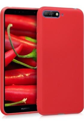 RedClick Huawei Y6 2018 Kılıf Ultra Slim Yumuşak Premier Silikon - Kırmızı