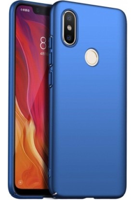 RedClick Xiaomi Redmi S2 Kılıf Rubber Sert Kapak Mavi