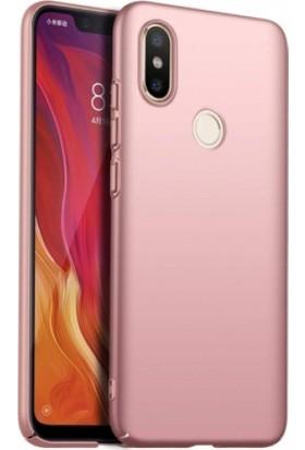 RedClick Xiaomi Redmi S2 Kılıf Rubber Sert Kapak Rose Gold
