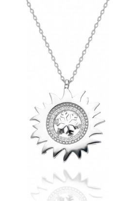 İpek Silver Güneş Ve Kartanesi Gümüş Kolye
