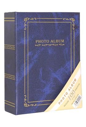 "Acr 100'lük 10 x 15 cm Ciltbezli Fotoğraf Albümü ""Mavi"""
