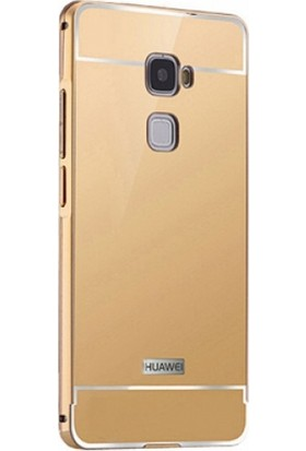 Elite Huawei Mate S Kılıf Aynalı Bumper Gold