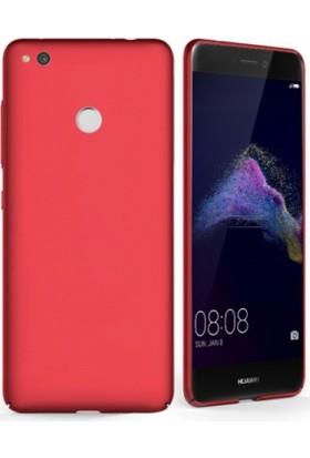 Elite Huawei P9 Lite 2017 Kılıf Rubber Arka Kapak Kırmızı