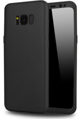 Elite Samsung Galaxy S8 Slim 360 Tam Koruma Rubber Kılıf - Siyah