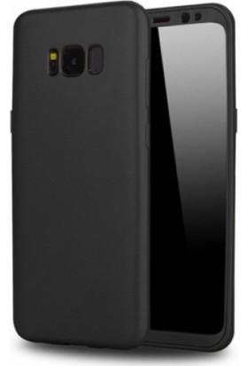 Elite Samsung Galaxy S8 Plus Slim 360 Tam Koruma Rubber Kılıf - Siyah