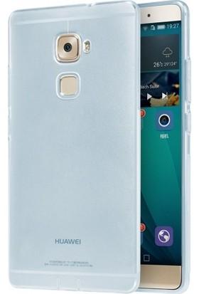 Elite Huawei Mate S Kılıf Ultra Slim Kaliteli Silikon Şeffaf 0.2mm - Mavi