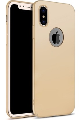 Elite Apple iPhone X Kılıf Gold Rubber Arka Kapak
