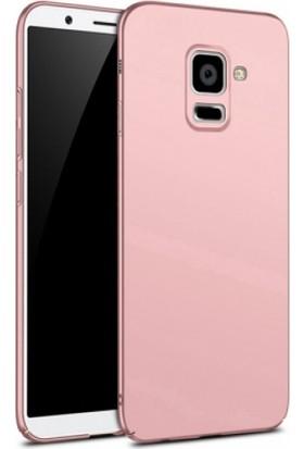 Elite Samsung Galaxy A8 Plus 2018 Rubber Kılıf Arka Kapak Rose Gold