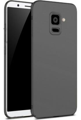 Elite Samsung Galaxy A8 Plus 2018 Rubber Kılıf Arka Kapak Siyah