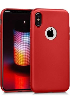 Elite Apple iPhone XS Max Kılıf Ultra Slim Yumuşak Fashion Silikon - Kırmızı
