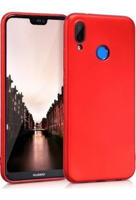 Elite Huawei P20 Lite Ultra Slim Yumuşak Fashion Silikon Kılıf - Kırmızı