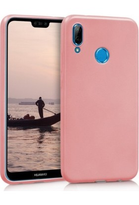 Elite Huawei P20 Lite Ultra Slim Yumuşak Fashion Silikon Kılıf - Rose Gold