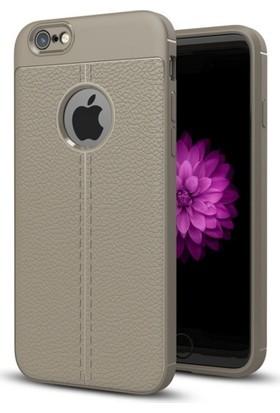 Telefonaksesuarı Apple iPhone 7 Kılıf Suni Deri Tam Koruma Ares Silikon Kapak
