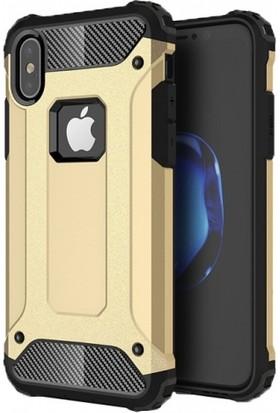 Telefonaksesuarı Apple iPhone X Kılıf Zırhlı Tam Koruma Silikon Zırhlı Armor Arka Kapak