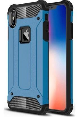 Telefonaksesuarı Apple iPhone Xs Max Kılıf Zırhlı Tam Koruma Silikon Zırhlı Armor Arka Kapak