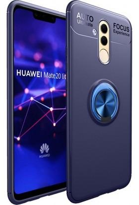 Telefonaksesuarı Huawei Mate 20 Lite Silikon Kılıf Royben Yüzüklü Manyetik Standlı Kapak