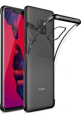 Telefonaksesuarı Huawei Mate 20 Pro Kılıf Ultra Slim Şeffaf Dört Köşe Lazer Silikon
