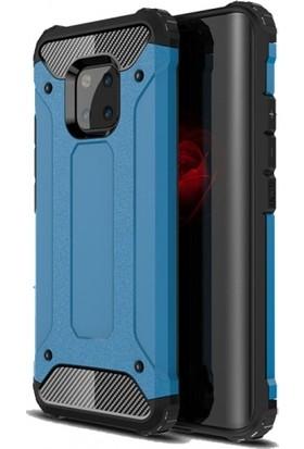 Telefonaksesuarı Huawei Mate 20 Pro Kılıf Zırhlı Tam Koruma Silikon Zırhlı Armor Arka Kapak