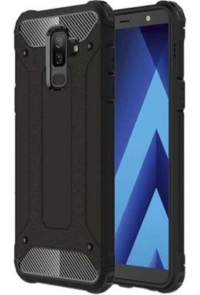 Telefonaksesuarı Samsung Galaxy A6 Plus 2018 Kılıf Zırhlı Tam Koruma Silikon Zırhlı Armor Arka Kapak