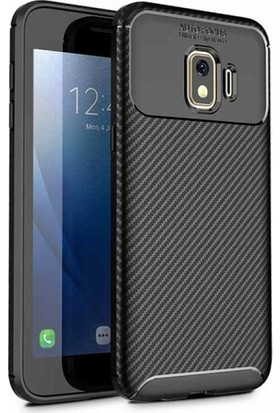Telefonaksesuarı Samsung Galaxy J2 Core Kılıf Esnek Karbon Görünümlü Royal Silikon Kapak