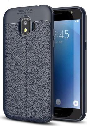 Telefonaksesuarı Samsung Galaxy J2 Pro Kılıf Suni Deri Tam Koruma Ares Silikon Kapak
