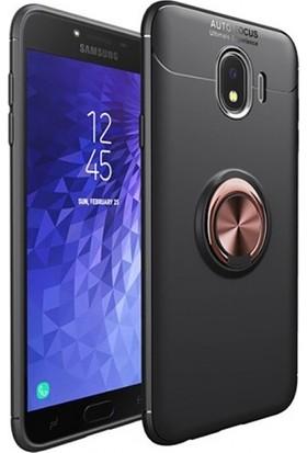 Telefonaksesuarı Samsung Galaxy J4 2018 Silikon Kılıf Royben Yüzüklü Manyetik Standlı Kapak