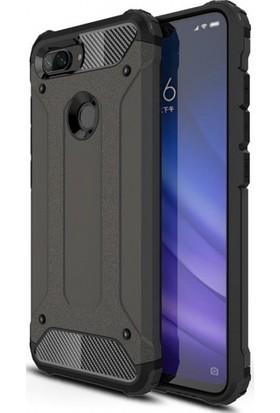 Telefonaksesuarı Xiaomi Mi 8 Lite Kılıf Zırhlı Tam Koruma Silikon Zırhlı Armor Arka Kapak