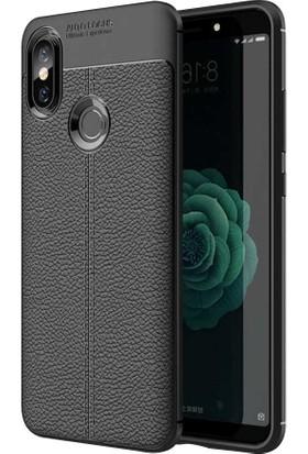 Telefonaksesuarı Xiaomi Mi 8 SE Kılıf Suni Deri Tam Koruma Ares Silikon Kapak