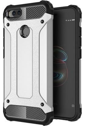 Telefonaksesuarı Xiaomi Mi A1 Kılıf Zırhlı Tam Koruma Silikon Zırhlı Armor Arka Kapak