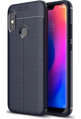 Telefonaksesuarı Xiaomi Mi A2 Lite Kılıf Suni Deri Tam Koruma Ares Silikon Kapak