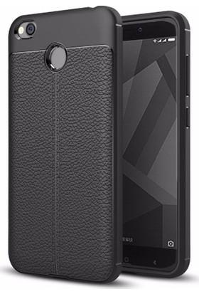 Telefonaksesuarı Xiaomi Redmi 4X Kılıf Suni Deri Tam Koruma Ares Silikon Kapak